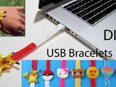 How To Make A Pikachu USB Bracelet.Keychains.Backpack Tag– DIY School Supplies in Pokemon Go Style