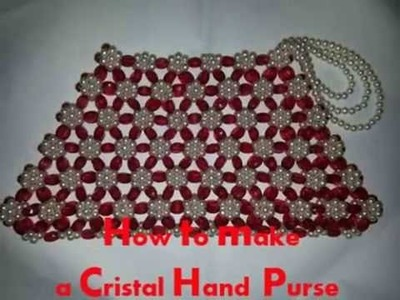 How to Make a Purse Out of Crystal-DIY Handmade Purse Tutorial-Bead Craft Ideas