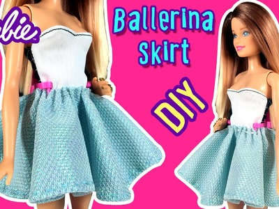 How to Make Ballerina Skirt for Barbie Doll - DIY - Barbie Clothes - Making Kids Toys