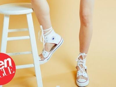 How to Make DIY Converse Espadrilles | Teen Vogue