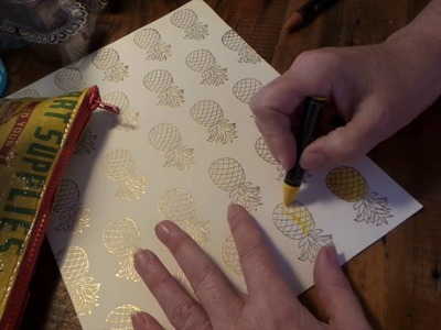 How To Make: DIY PINEAPPLE PATTERNED PAPER