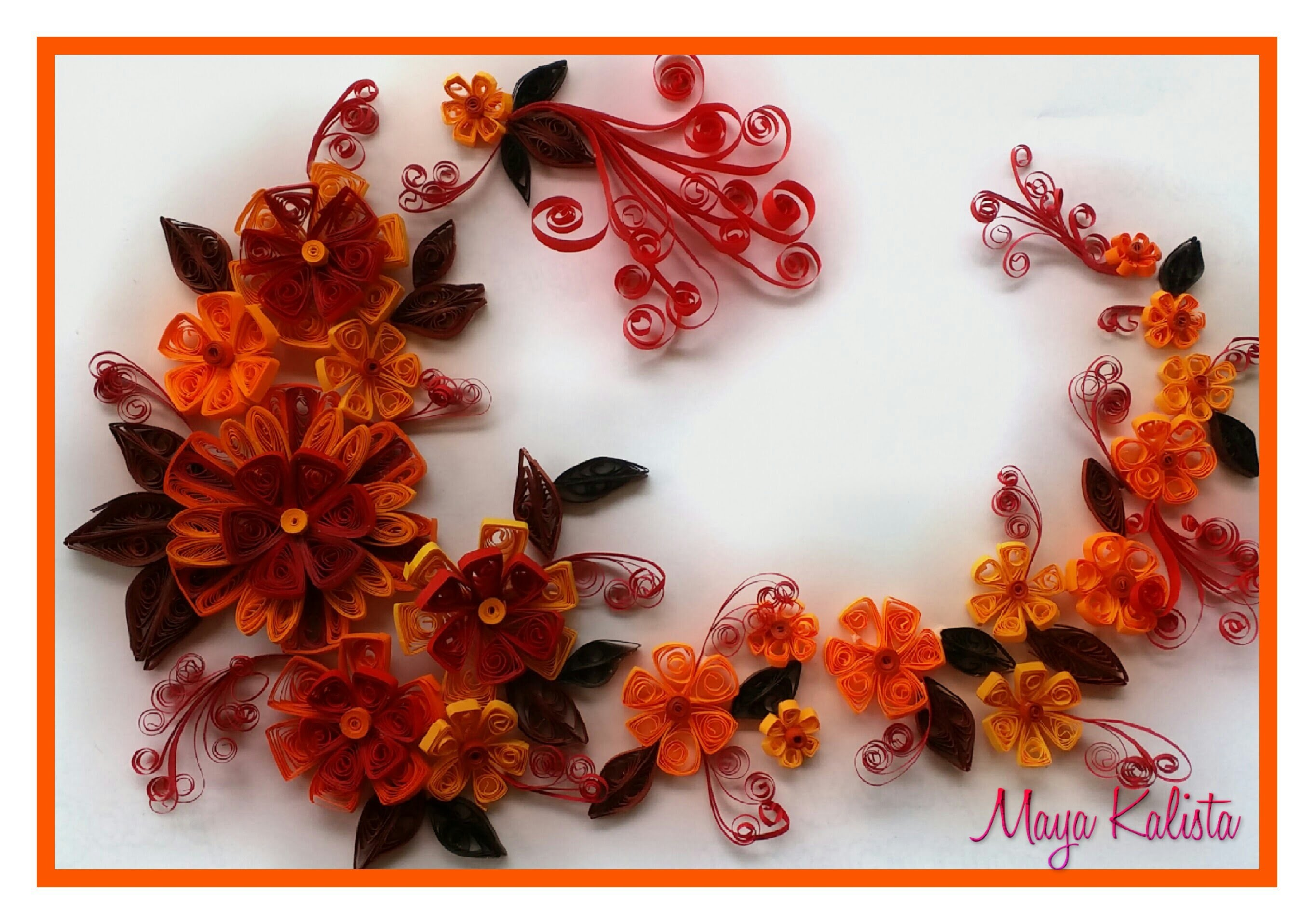 How to make DIY quilling paper designs - Flower DESIGNS. ART. Ideas Tutorial !