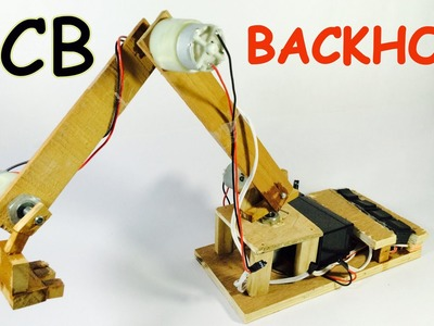 How to make JCB with Motor at Home easily | Backhoe | DIY Project