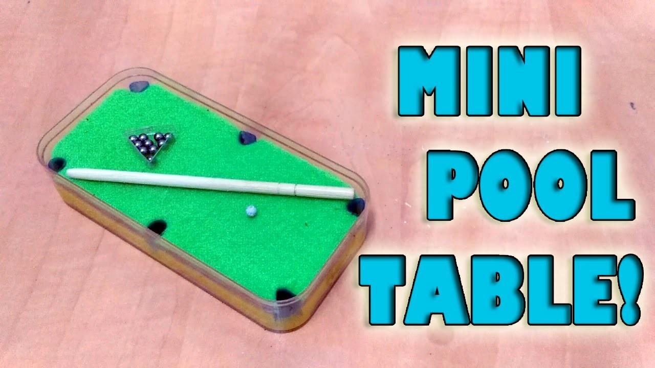 How To Make Mini Pool Table Set! |DIY| 2016