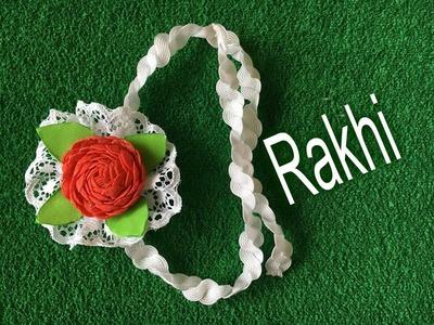 How to make Rakhi with zig zag lace DIY Rakhi special