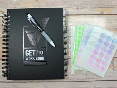"My Planner Journey ""Get To Work Book"" + DIY Stickers & Removable Pouch"