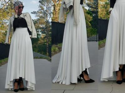 Nadira037 | DIY | High Low Maxi Circle Skirt Tutorial