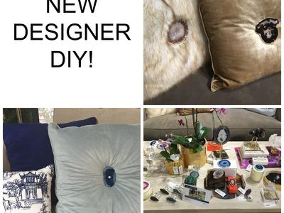 NEW !!!  Designer DIY:  Agate Stone Decorative Pillows