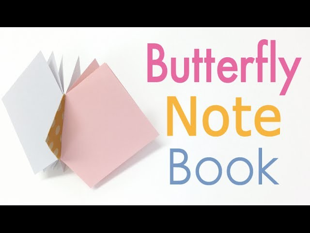 Origami Paper Butterfly Note Book (Notebook) DIY【Square paper】 - Origami Kawaii〔#146〕