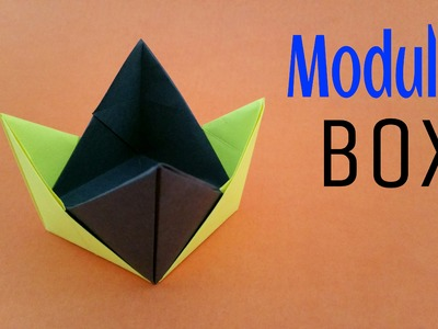 "Origami tutorial to make a ""Modular Box"" - 