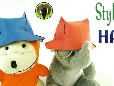 "Origami Tutorial to make ""Stylish Hat"