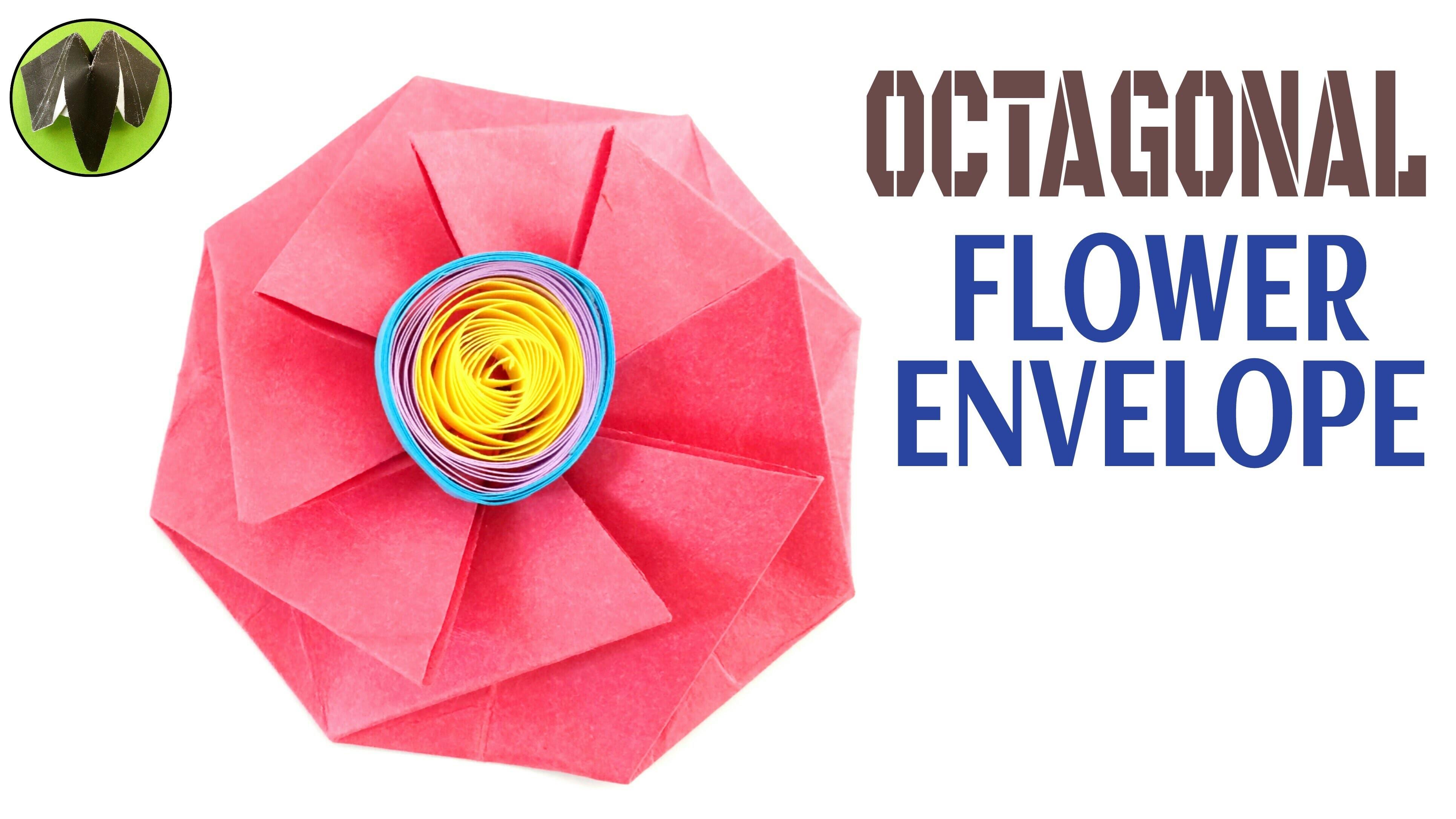 Origami Tutorial to make Paper Octagonal Flower Envelope ... - photo#31
