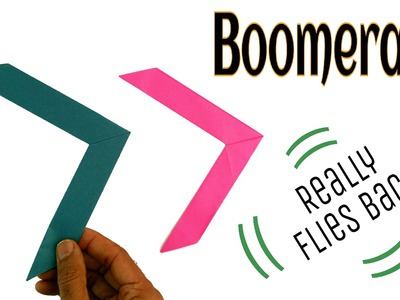 "Origami tutorial to make Paper ""Boomerang"" - Handmade
