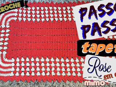 PAP TAPETE ROSE  CROCHE - Tapete BICOLOR- DIY- TUTORIAL COMPLETO