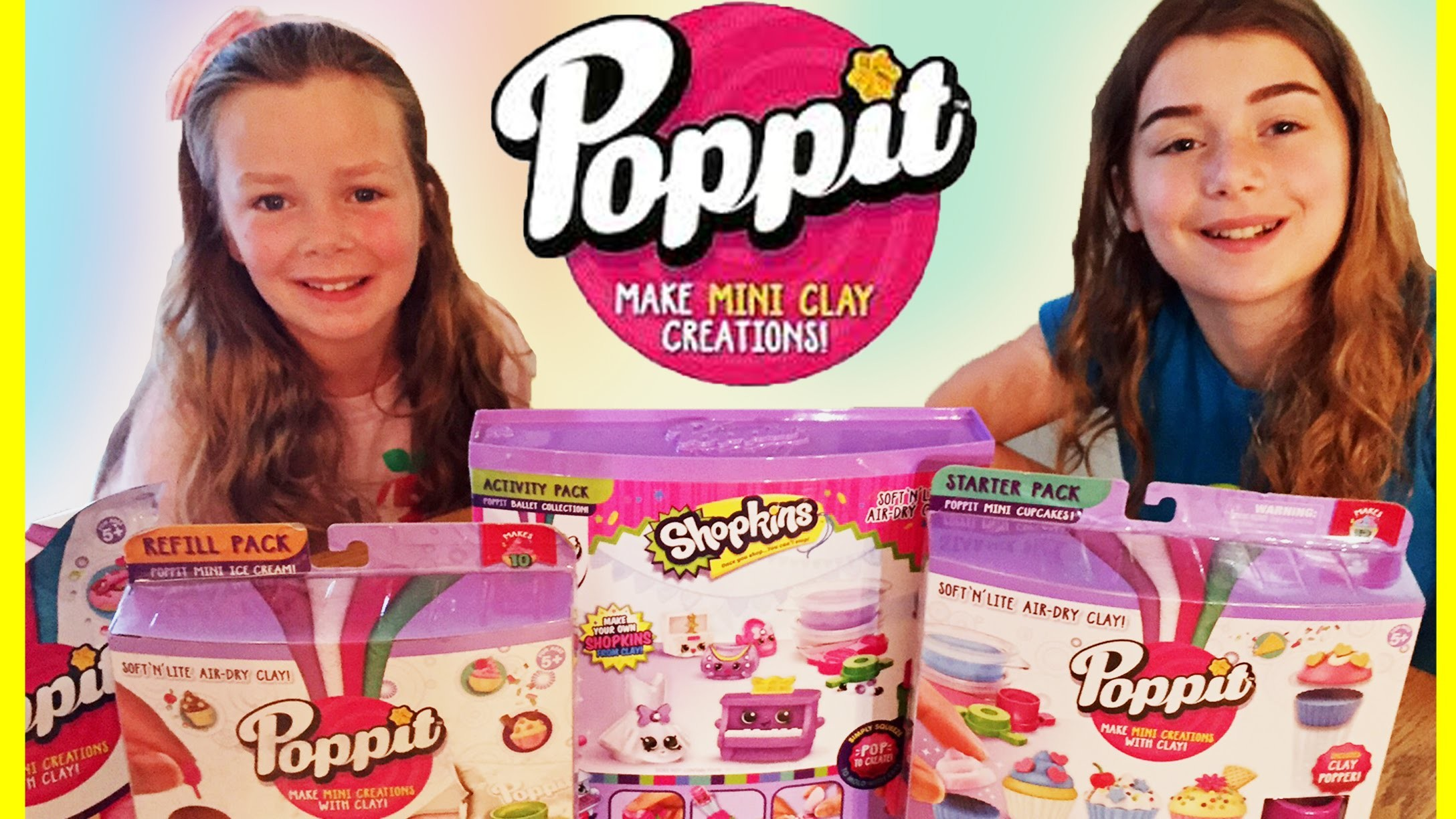Poppit Air Dry Clay | Shopkins, Cup Cakes, Ice Cream DIY Kits