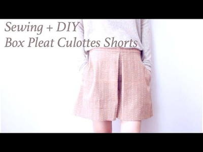 Sewing + DIY Box Pleat Culottes Shorts