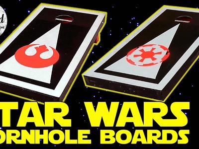 Star Wars Cornhole Boards. Bean Bag Toss How-To DIY | Crafted Workshop