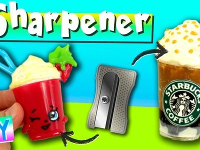 STARBUCKS pencil sharpener * DIY Shopkins PENCIL SHARPENER