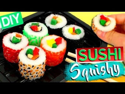 SUSHI Squishy DIY * How to make Sushi SQUISHIES