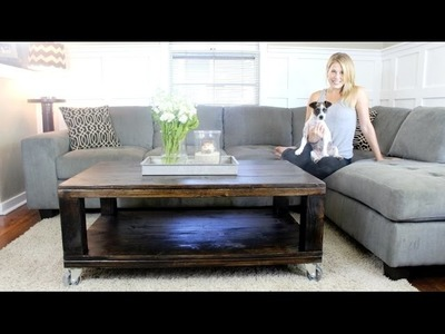 The Rustic Wheeled Coffee Table - DIY Project