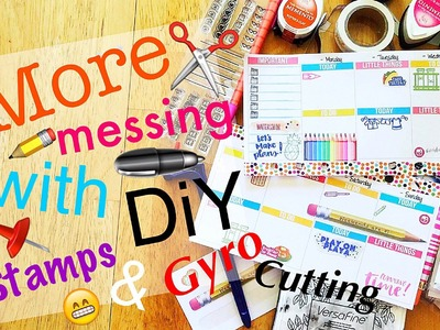 Trying out something new with Planner Stamping + the Gyro Cut \\ DIY Planning Tutorial