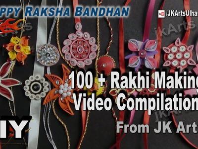 100+ Rakhi Making  Videos Compilation | DIY How to make Rakhi | JK Arts 1036