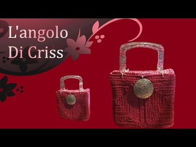 Bauletto all'uncinetto su rete - bolso crochet en la red - crochet bag with the grid