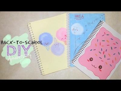 BTS: DIY Cute.Kawaii Notebook Cover (COTTON CANDY, DANDELIONS, POP TART) | alphabetstory