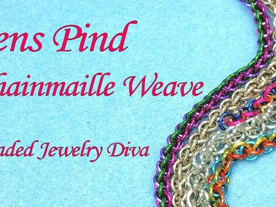 Chain Maille Tutorial   How to Make Jens Pind Chainmail Weave