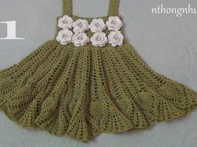 Crochet a baby dress - Pattern 5 (1.2) (engsub)