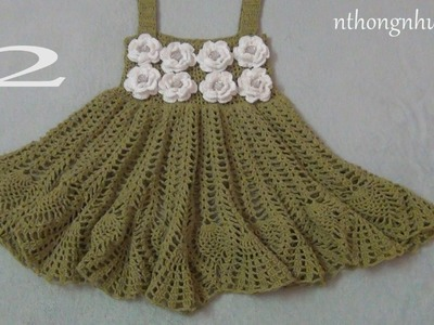 Crochet a baby dress - Pattern 5 (2.2) (engsub)