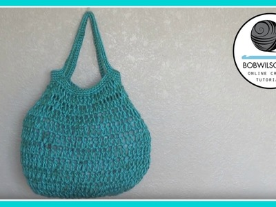 Crochet big bottom bag tutorial