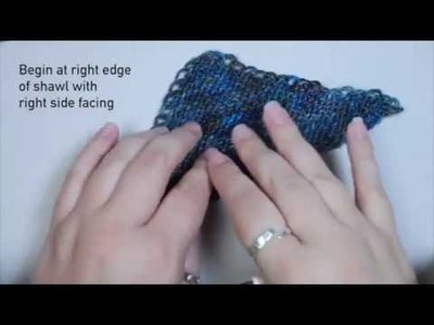 Crochet Chain Edging for Meadowsweet Shawl