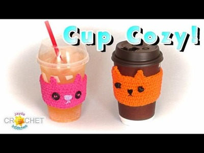 Crochet Cup Cozy - Kitty Cat Pattern!
