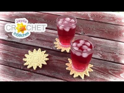 Crochet Drink Coaster - Sunshine Pattern