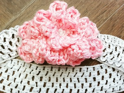 Crochet Flower embellished headband