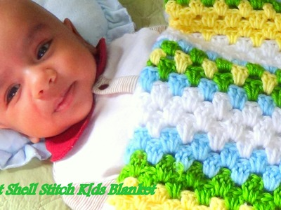 CROCHET GRANNY  KIDS BLANKET