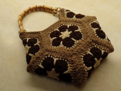 CROCHET How To #Crochet African Flower Hexagon Handbag Purse #TUTORIAL  #325