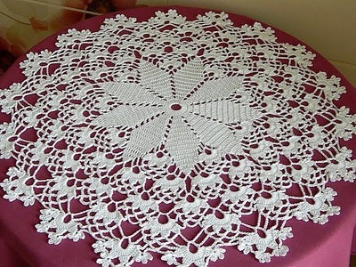 CROCHET How to crochet doily tutorial 22-24 round part 8