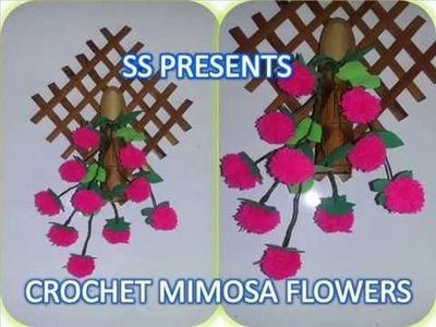 Crochet Pom Pom Mimosa Flowers