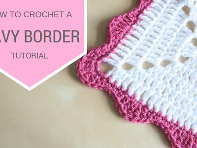 CROCHET: Wavy Border tutorial | Bella Coco