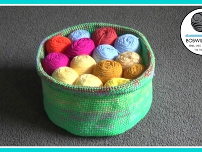 Crochet Yarn Basket Tutorial