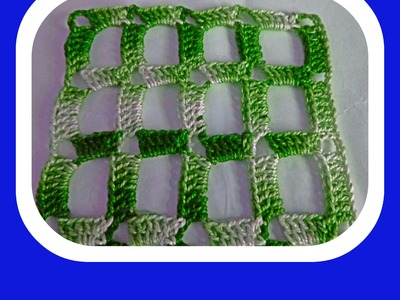 Cuadradros abiertos a ganchillo-Quadrados abertos em crochet