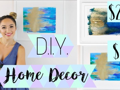 D.I.Y. HOME DECOR | ABSTRACT PAINTING WALL ART | ALEXANDRA BEUTER