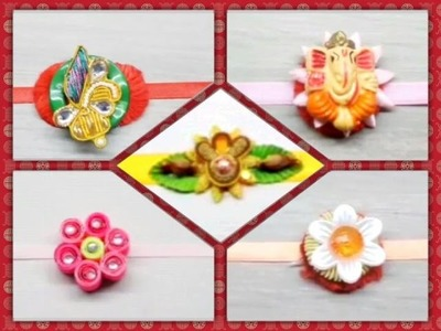 DIY 5 Easy to Make Rakhi for Raksha Bandhan. How to Make Rakhi at Home. 5 Beautiful Rakhi Designs.