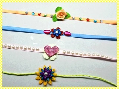 DIY 7 Easy to Make Beautiful Rakhi Designs. 7 Home Made Rakhi Designs.How to Make Rakhi at home.
