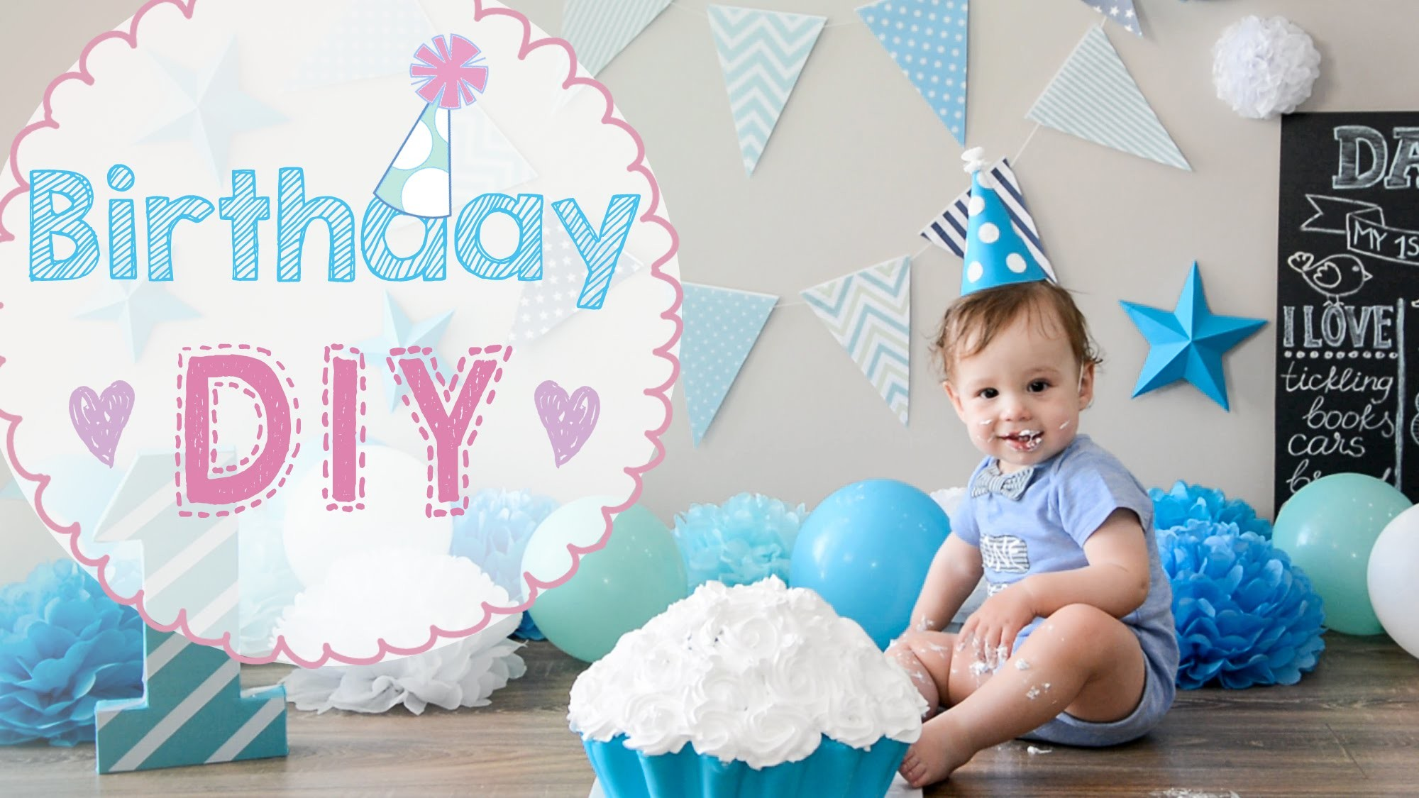DIY Baby Birthday Idea For First Party Celebration