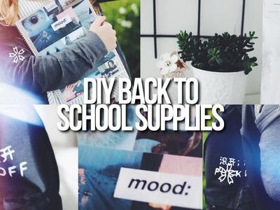 DIY BACK TO SCHOOL SUPPLIES + ORGANIZATION!