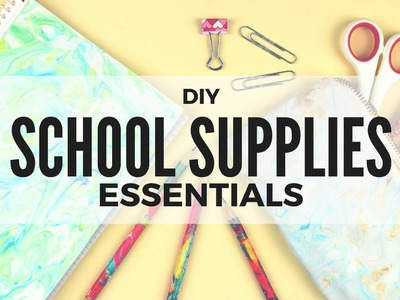 DIY: Back to School Supplies Essentials | Notebooks, Pencils, Pencil Case | Cutify DIY #6