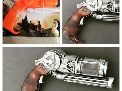 DIY Batman V Superman Grappling gun prop: Custom paint tutorial.